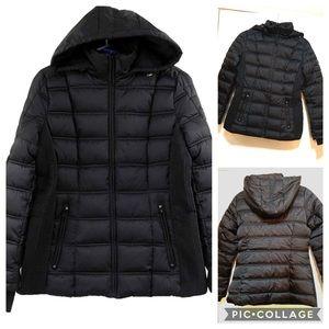 NWOT Black Nautica Puffer Coat size Medium